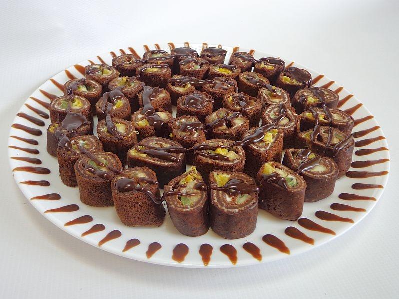 терке как красиво подать шоколадные роллы фото сегодня пожелаем